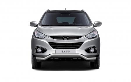Защита переднего бампера фигурная d63мм Hyundai IX35 (нерж)